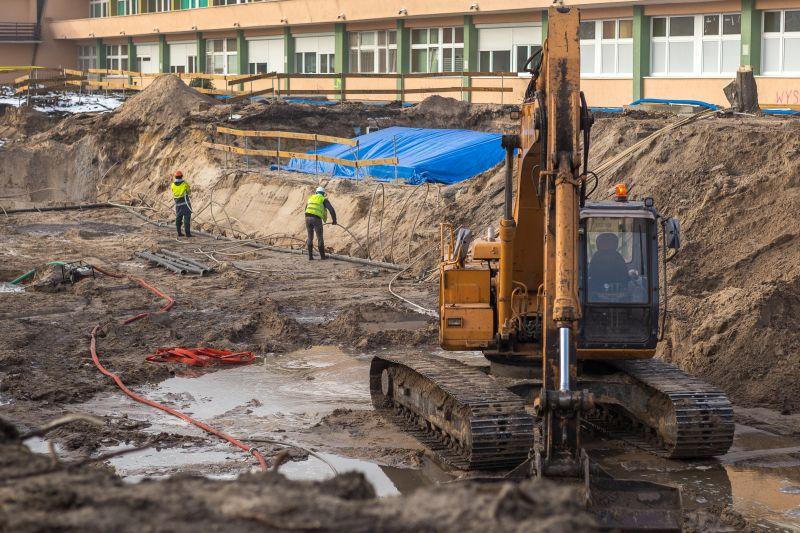 17.01.2017 Szpital Bielany - plac budowy - fot. Szymon Zdzieblo
